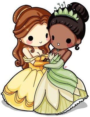 Chibi disney tiana and belle Chibi Anime