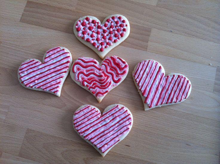 Biscuits de St-Valentin / Valentine cookies: Valentine Cookies, De St. Valentine, Valentine'S Cookies