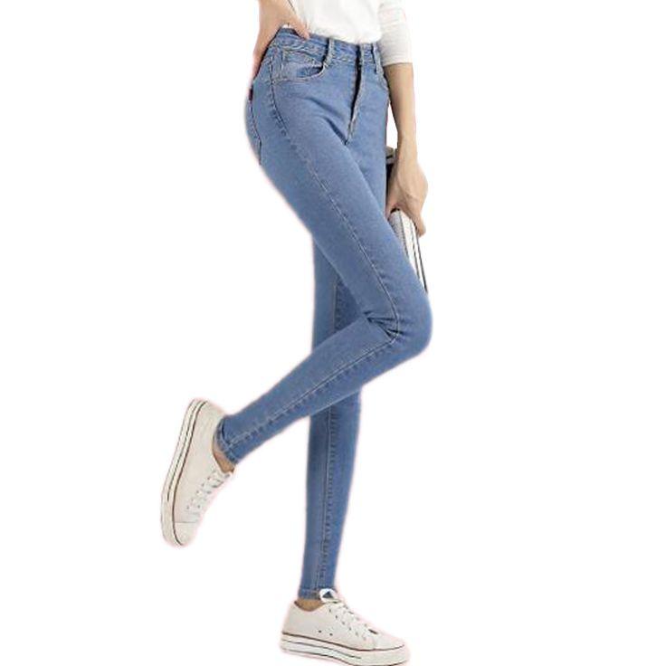 NUOVO modo di marca donne scarni dei jeans della matita denim elastico pantaloni di lavaggio di colore di buona qualità delle donne casuali jean pants