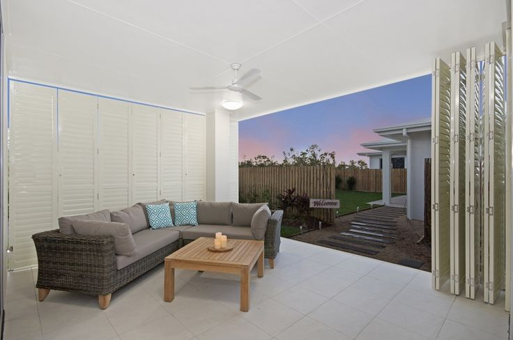 Fully enclose your patio wioth your Bermuda 2000 Shutters, or allow full view and airflow  #blinds #shutters