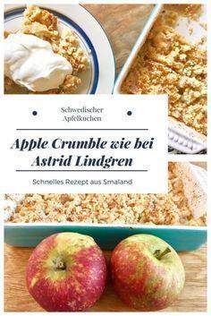 Schwedischer Apfelstreusel: Apfelkuchen mit Krümelteig wie bei Astrid Lindgren