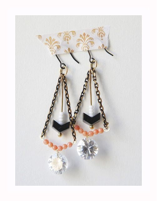 hello, whimsy.: EARRING SHOWCASE: coral, chevron & spikes
