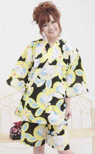 Amazon.co.jp: (ハローキティ) 甚平レディースhellokitty フリーサイズ: 服&ファッション小物
