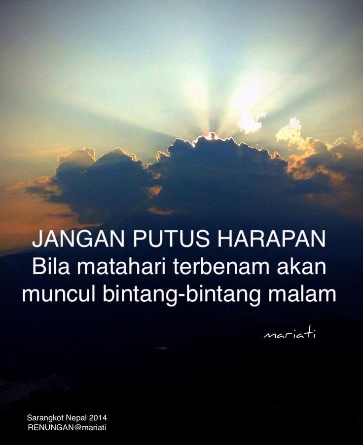 Jangan putus harapan... Tuhan Maha Tahu yang terbaik untuk setiap umat-Nya yang selalu penuh keyakinan bahwa mukjizat itu ada.