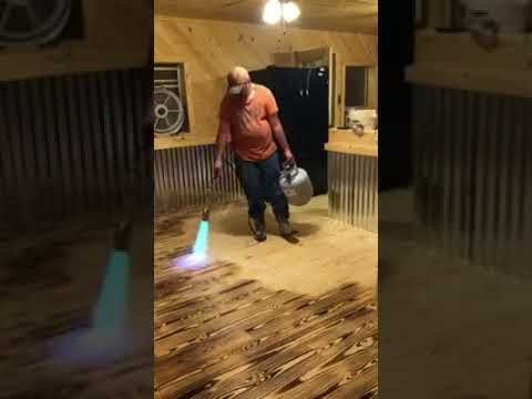 Burning Wood Floor With A Propane Torch! - YouTube
