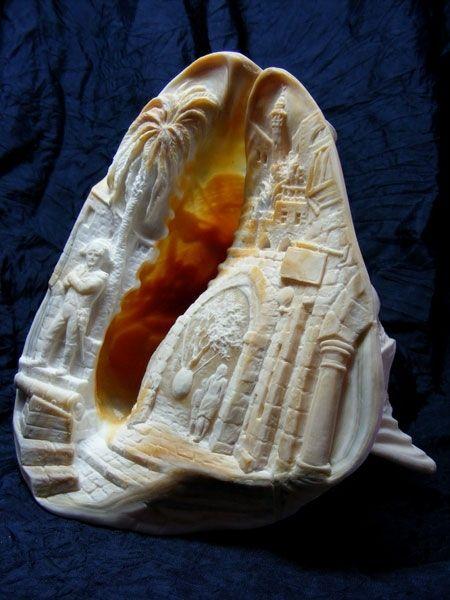 Engraving sea shells