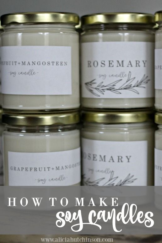 Winter feels like the perfect time to check off some of those projects you've been wanting to get done forever. Like, cleaning out the storage room or organizing the pantry...or making candles. Althou