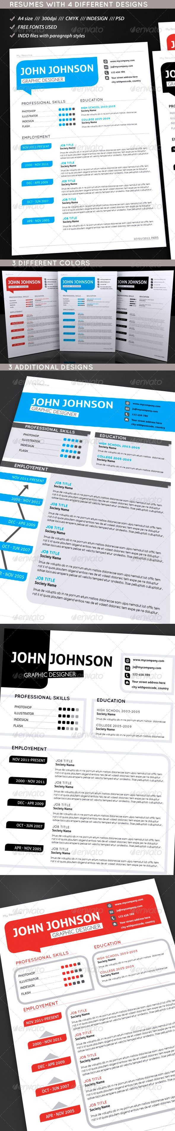 best images about modern resumes resume set of modern resumes