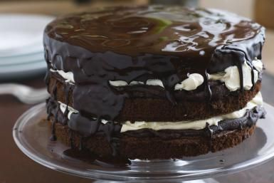 Mounds Chocolate Cake With Rich Coconut Filling: Chocolate Cake