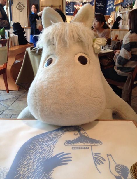 A Moomin Cafe - what could be better?