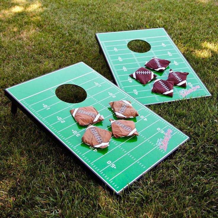 Football Field Tailgate Toss Cornhole Set