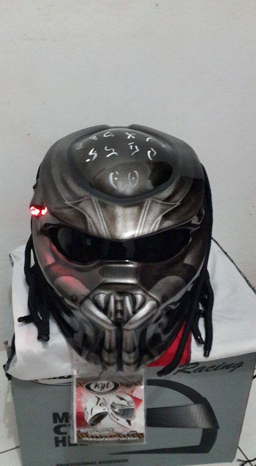 Predator Motorcycle Helmet for Bikers Style by BLACKLINEPREDATOR on Etsy