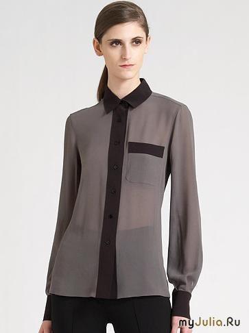 Кремовая блузка из натурального шелка