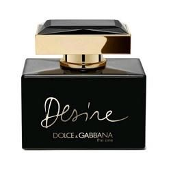 D&G The One Desire Eau de Parfum completes The One collection with a bouquet of intense and opulent notes that include Madonna lily, Indian tuberose, jasmine, plum nectar and a gourmand note of vanilla-infused caramel. Matte gold and black characterize Desire's flacon and packaging - a sophisticated reinterpretation of the original classic shape.