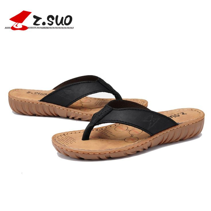 Летняя мода женские клинья Сандалии женщина натуральная кожа Флип-Флоп Пляжные тапочки устойчивы Тапочки size35-39