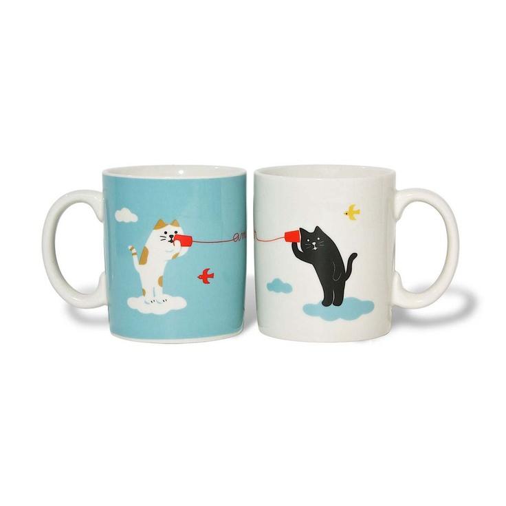 Cat Hearts Mug Set Of 2