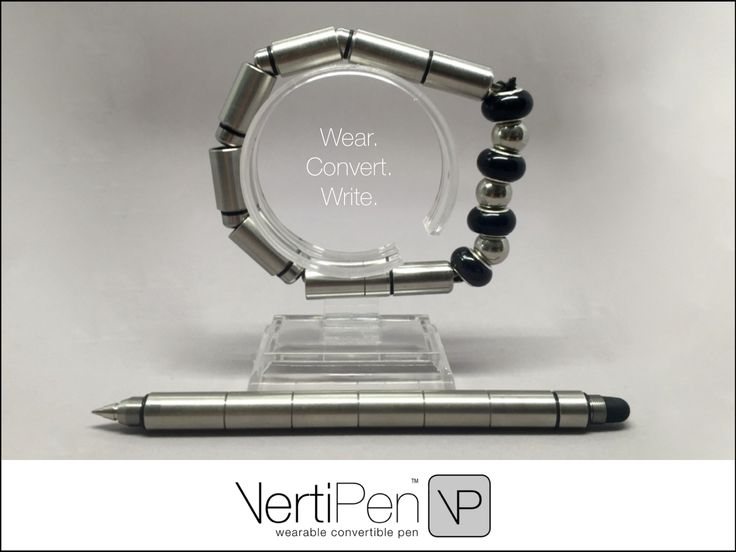 VertiPen is a wearable, convertible writing instrument made from 303 grade stainless steel. Always have a pen on you & do so in style!
