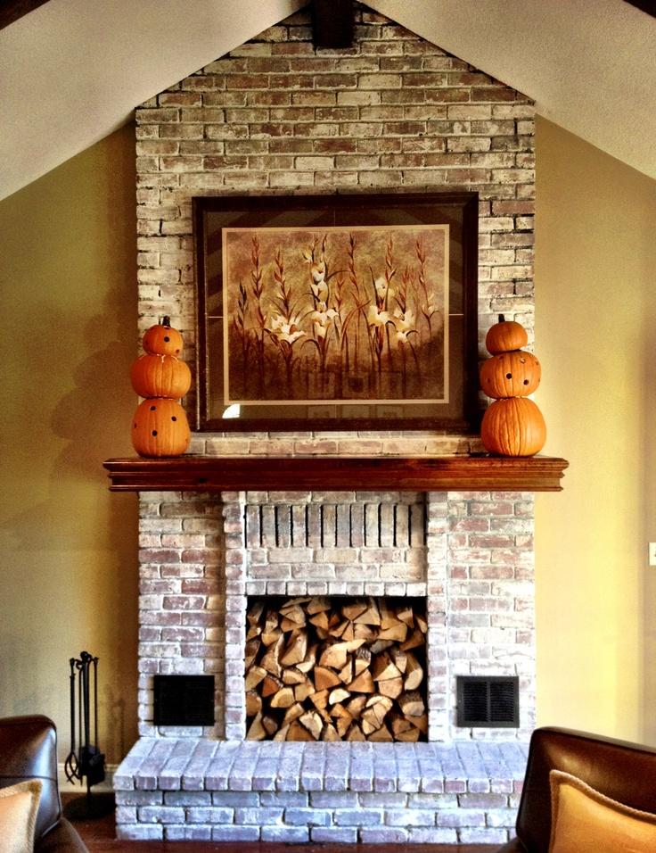 Rachel- I like this a lot!  White Wash Fireplace