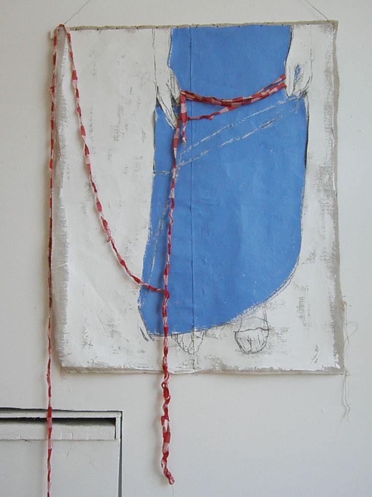 Puolinainen ( The Incomplete Lady) 2011 - oil painting- Annukka Mikkola