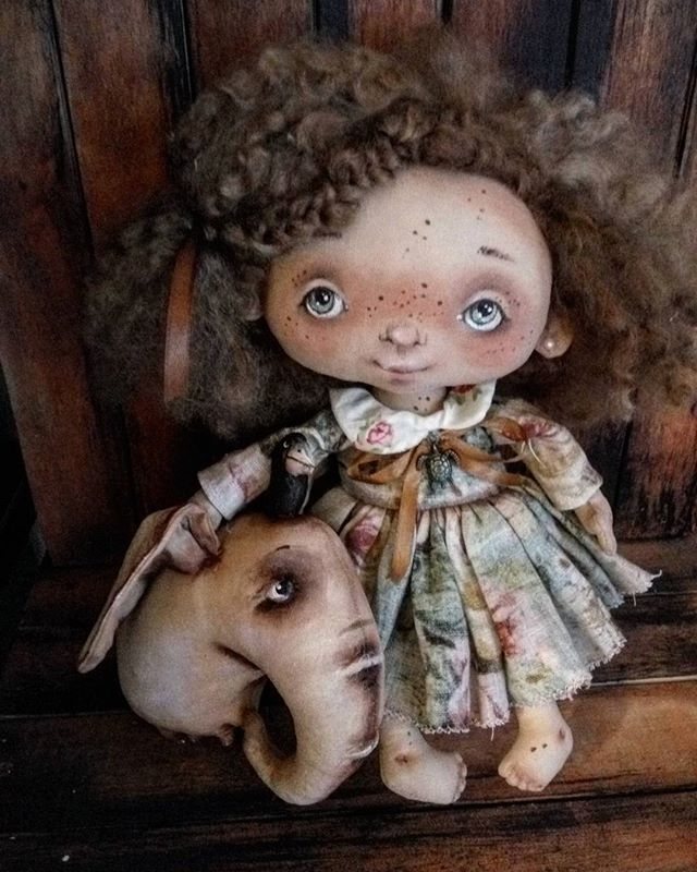 #авторскаяработа #кукларучнойработы #текстильнаяигрушка #оленавербець…