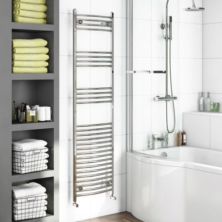 Curved Heated Towel Rail 1650 x 450 £99