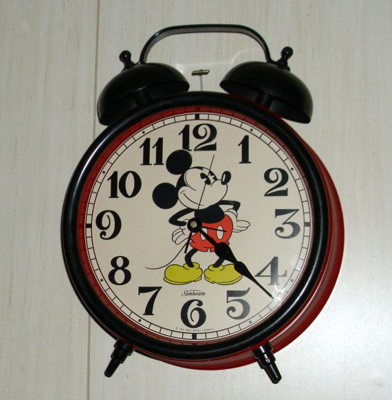 Mickey Mouse Classic Double Bell Alarm Clock By Sunbeam