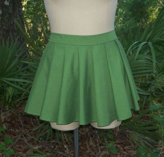 Pleat Mini Skirt with Loose Knife Pleats  Custom