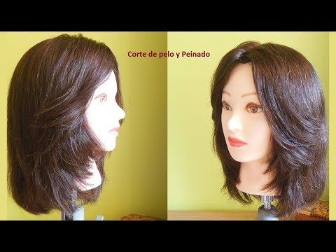 Haircut with layers on the front | Medium long haircut – YouTube