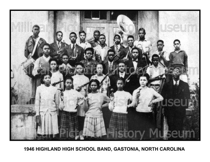 1946 Highland High School Band, Gastonia, North Carolina | Millican Pictorial History Museum
