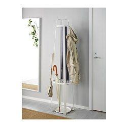 IKEA - ENUDDEN, Attaccapanni, Nella parte inferiore dell'attaccapanni puoi mettere gli ombrelli.I piedini di plastica sotto l'attaccapanni gli donano stabilità e proteggono il pavimento sottostante.