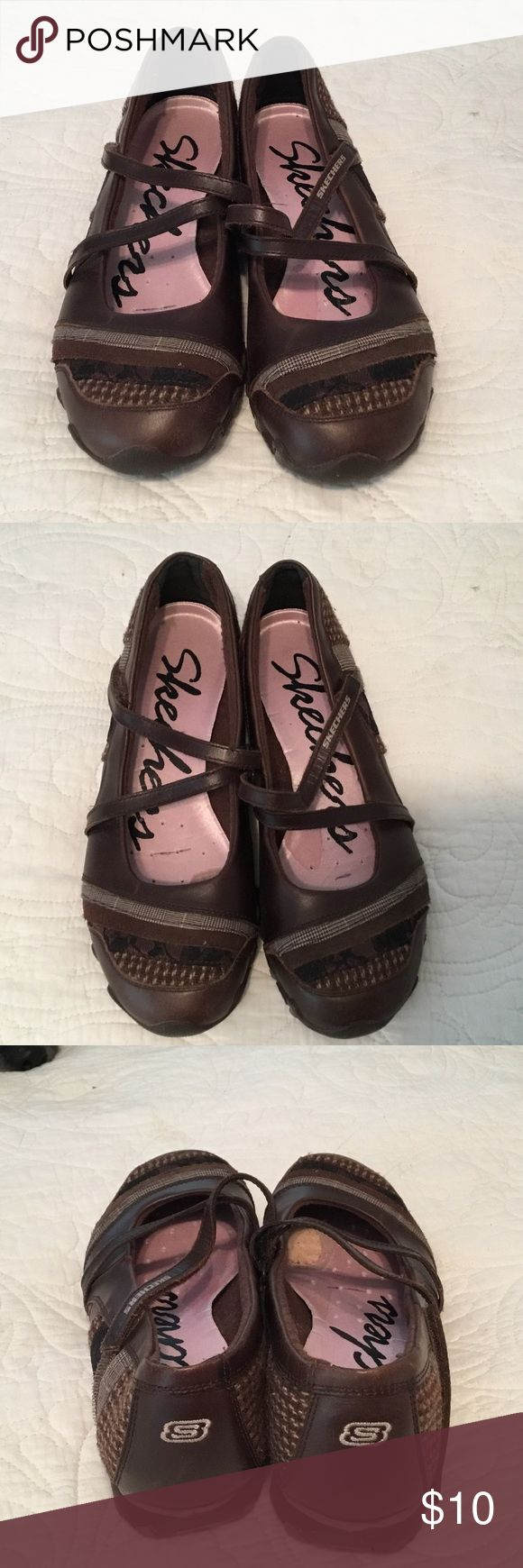 SKECHERS SHOES CUTE BROWN PATTERNED FLATS. VERY GOOD CONDITION. Skechers Shoes Flats & Loafers