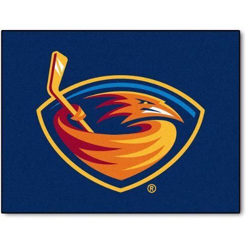 """Fanmats Atlanta Thrashers 34"""" x 45"""" All Star Area Rug  https://allstarsportsfan.com/product/fanmats-atlanta-thrashers-34-x-45-all-star-area-rug/  100% nylon mat Decorated with the team logo Chromojet painted in the team colors"""