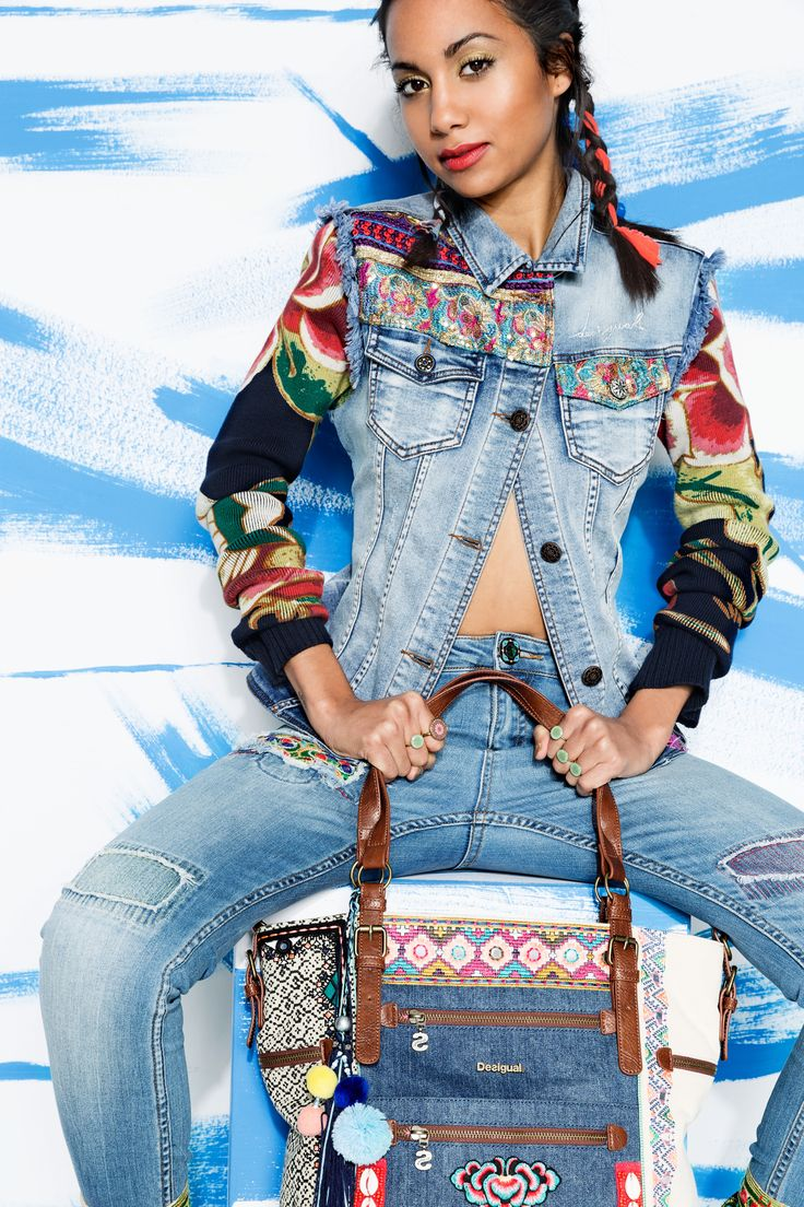 Styling tip: make your braids more exotic fitting them with bow fabrics. Colorful, ethnic and denim style in our Exotic Jeans capsule!