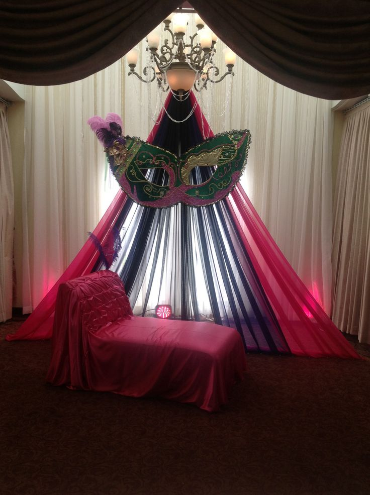 Stage Masquerade Decor @Jennie Elizabeth