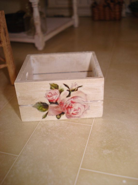 Miniature Shabby Wood Box