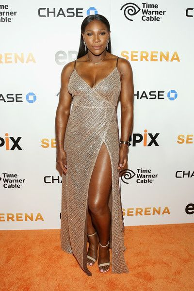 Serena Williams Strappy Sandals - Serena Williams let her dress do the talking by pairing it with basic nude ankle-strap heels.