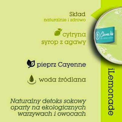 Zielone koktajle: iLemoniade = cytryna + cayenne + agawa + woda