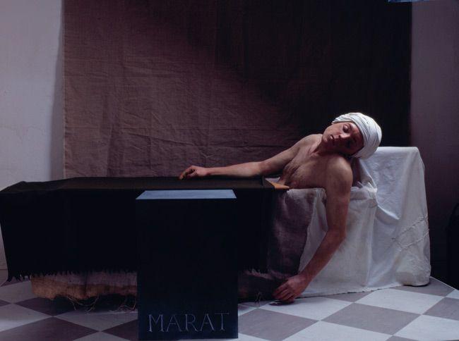 Gavin Turk, The Death of Marat, 1998 after JL David
