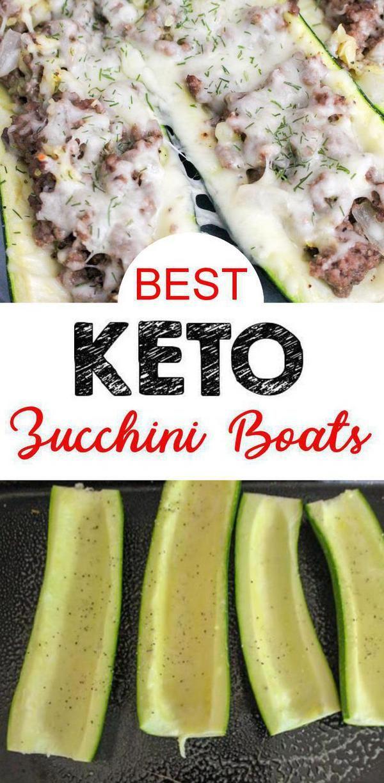 Best Keto Zucchini Boats Low Carb Keto Zucchini Recipe Idea Healthy Quick Easy Ke Easy Zucchini Recipes Zucchini Ground Beef Recipe Healthy Beef Recipes
