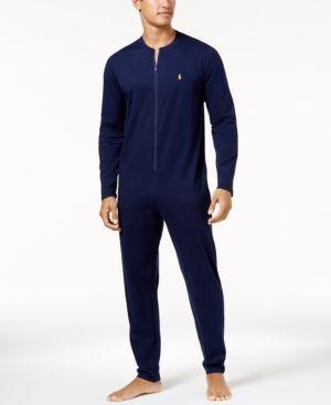 Polo Ralph Lauren Men's Cotton Jumpsuit Pajamas - Navy XL