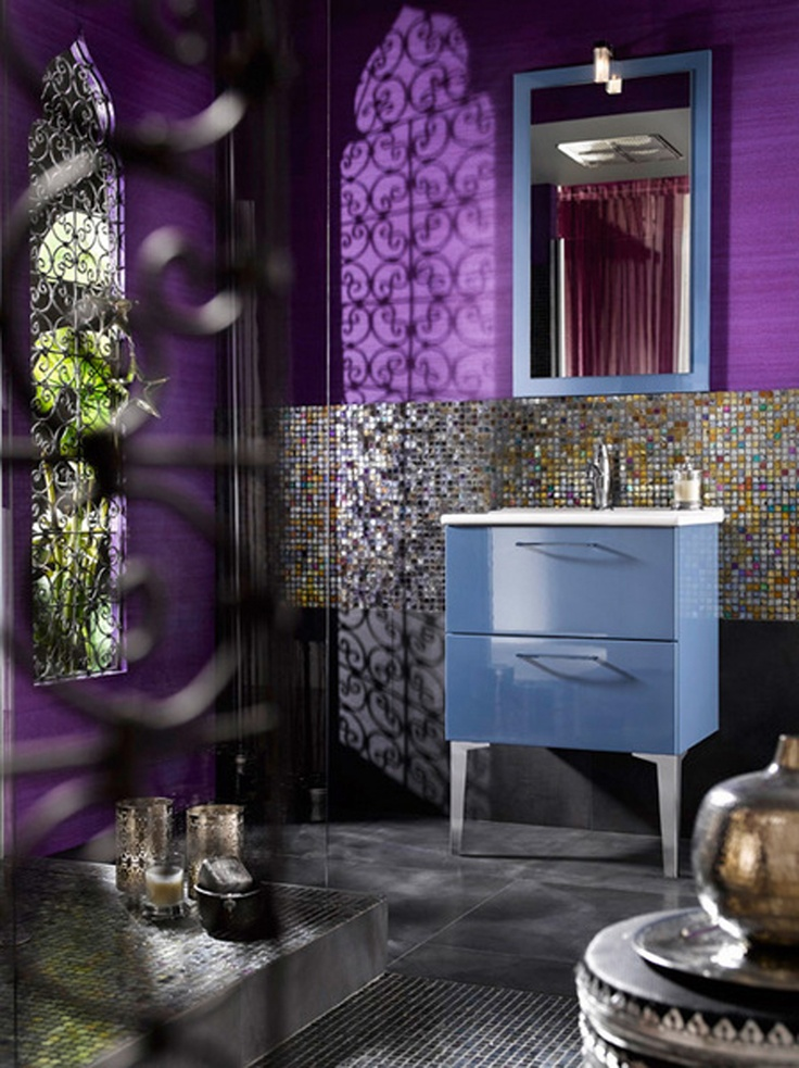 Moroccan Bathroom Decor Ideas 33 best bold colours bathroom design images on pinterest