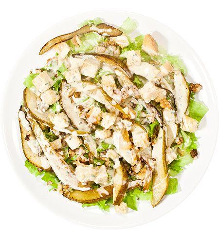 Тёплый салат из груши