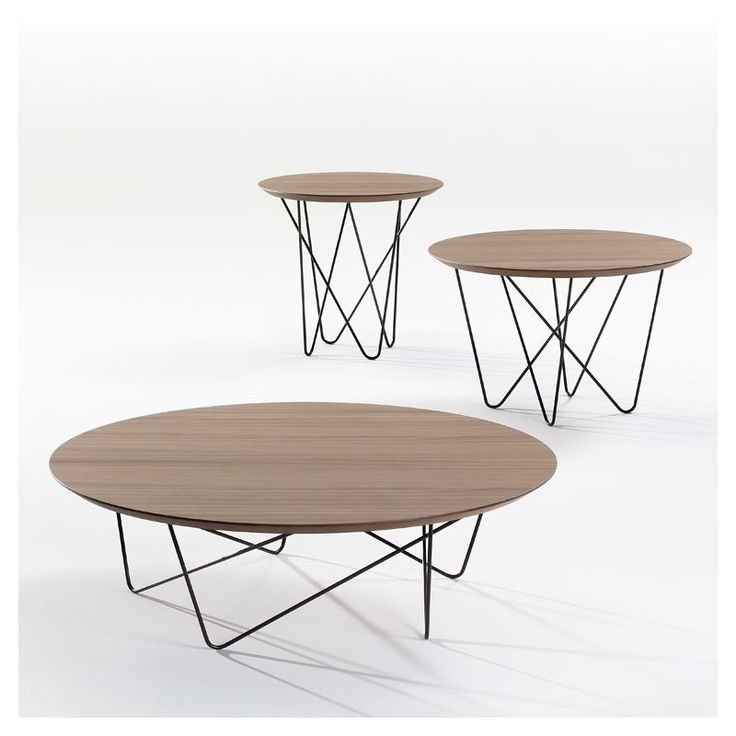 25 best ideas about table basse ronde on pinterest for Table bois metal design