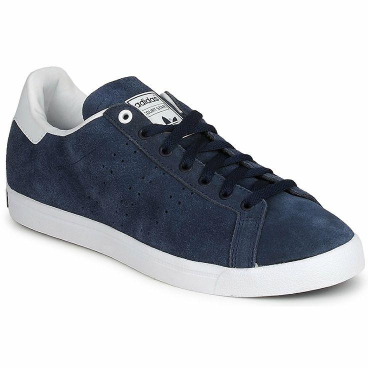 Baskets basses adidas Originals COURT STAR Bleu / Blanc - Livraison Gratuite avec Spartoo.com ! - Chaussures Homme 50,99 €