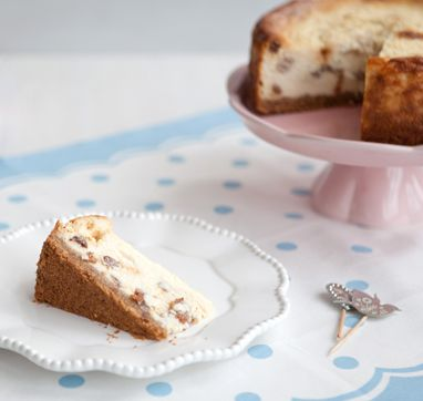 Rum and raisin baked cheesecake - a great dessert for grown ups.