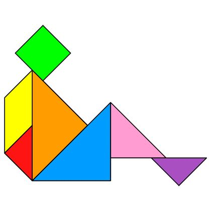 Tangram Rest - Tangram solution #49 - Providing teachers and pupils with tangram puzzle activities