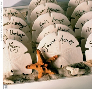 More capiz shell escort cards! Adorable...Would love with gold ink.