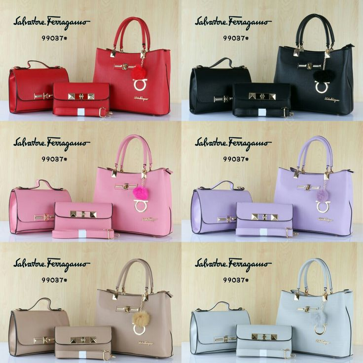 Salvatore Ferragamo 99037v1# 3in1 Taiga Semi Premium 32x14x25 Harga 305rb Berat 1,4kg 6 warna Red Black Pink Purple Khaki Grey