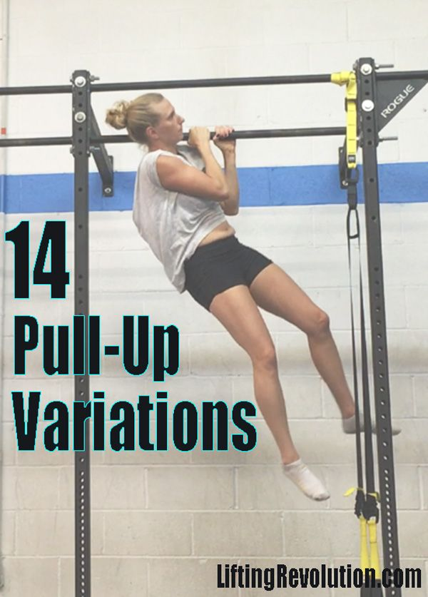 14 Fun Pull-up Variations for workouts. #pullups #strength #back