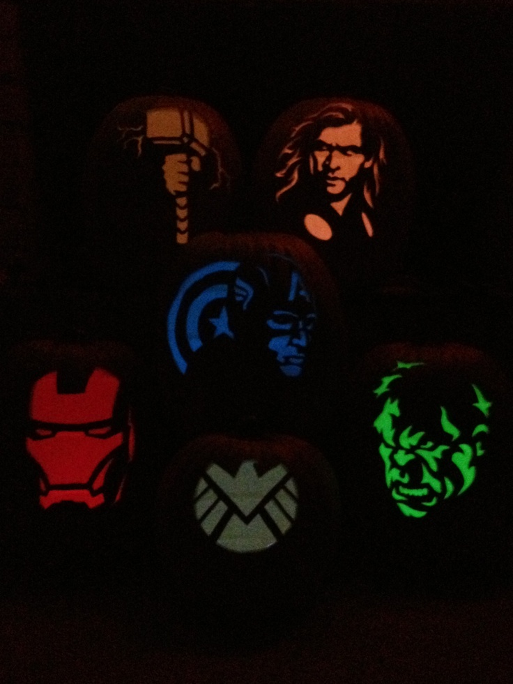 Avengers carved foam pumpkins amazing patterns at